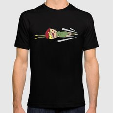 Spiral Arrow SMALL Mens Fitted Tee Black