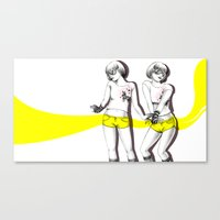 Twopose Canvas Print