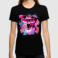 Jack Russell Grunge Watercolour Cool Dog Wall Art Womens Fitted Tee Black SMALL