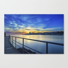 Smooth river. Canvas Print