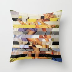 Glitch Pin-Up Redux: Isabella Throw Pillow