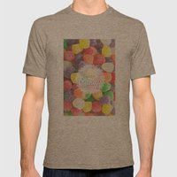 I Want Candy: Gumdrops Mens Fitted Tee Tri-Coffee SMALL