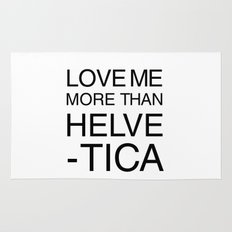 More than Helvetica Rug
