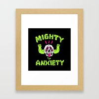 Mighty Anxiety Framed Art Print