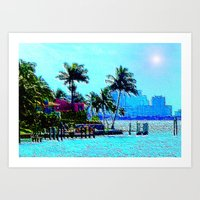 Miami Afternoon Art Print