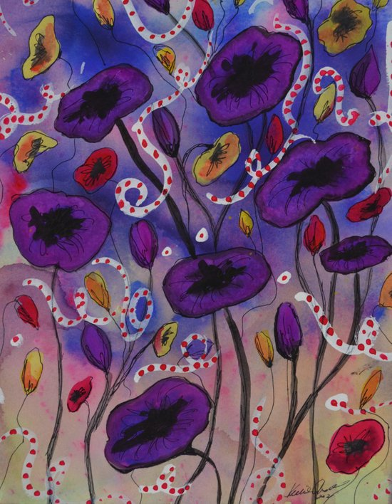 Fun Poppies Art Print