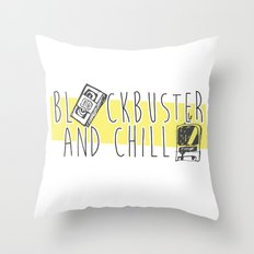BlockBuster and Chill Throw Pillow