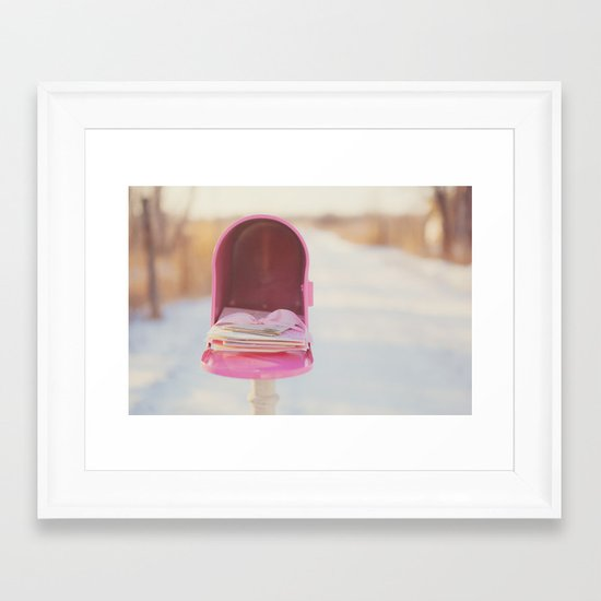 The one good thing about not seeing you is that I can write you letters.  ~Svetlana Alliluyeva Framed Art Print