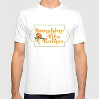 Sunshine Tree Terrace Mens Fitted Tee White SMALL