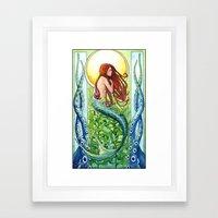 Kelp Forest Mermaid Framed Art Print
