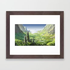 The Valley of the Wind, Nausicaa Framed Art Print