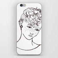 Young Girl Head iPhone & iPod Skin