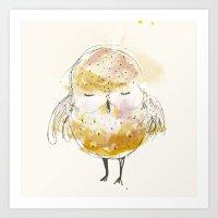 Just A Little Owl Art Print