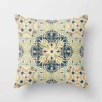 Protea Pattern In Deep T… Throw Pillow
