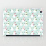 iPad Case featuring Adorable Christmas Snowm… by SonyaDeHart
