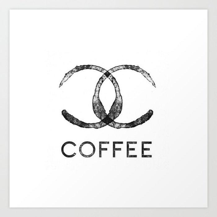 Sunday's Society6   Chanel Coffee art print