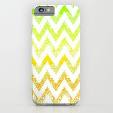 ombre golden green chevron iPhone 6s Slim Case