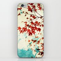 Automne Rouge iPhone & iPod Skin