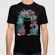 Popoki SMALL Black Mens Fitted Tee