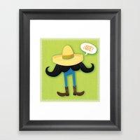 Mexstache Framed Art Print