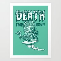 DEATH FROM ABOVE (green) Art Print