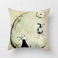 Cat Romance Throw Pillow