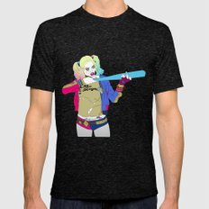 Harley Quinn Mens Fitted Tee Tri-Black SMALL