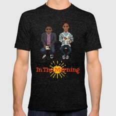 Troy And Abed In the Morning Mens Fitted Tee Tri-Black SMALL