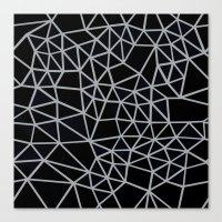 Segment Grey and Black Canvas Print