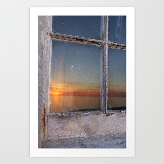 Kitchen Window Uptown Coffee Festival 2016: Window Sunset Art Print By Scene By Emily