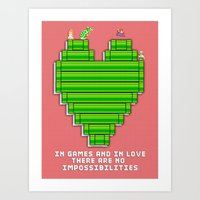 In Games And In Love Art Print