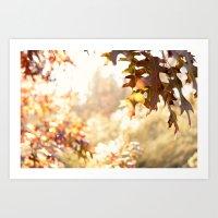 hazy autumn Art Print