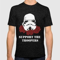 Support the Troopers Mens Fitted Tee Tri-Black SMALL