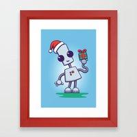 Ned's Christmas Framed Art Print