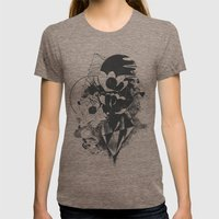 Chaos Theory Womens Fitted Tee Tri-Coffee SMALL