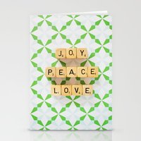 Joy Peace Love Stationery Cards