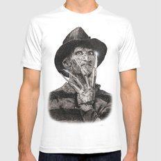 freddy krueger White SMALL Mens Fitted Tee