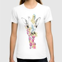 G-raff colour Womens Fitted Tee White SMALL