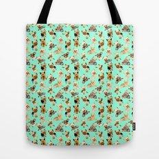 Yorkie Pattern Tote Bag