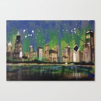 Chicago Night Canvas Print