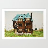 Abandoned House In Detro… Art Print