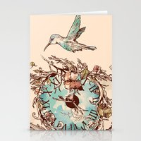 Watching the Passage of Time Stationery Cards
