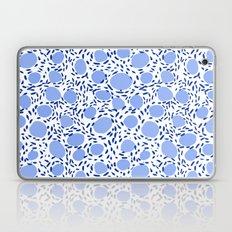 Pebbles cute pattern gender neutral dorm college abstract design minimal modern blue nature art Laptop & iPad Skin