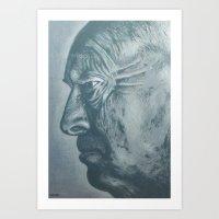 Vladimir Nabokov-grey Sc… Art Print