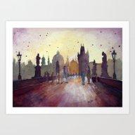 Prague, Watercolor Explo… Art Print