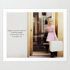 pretty in pink one Art Print