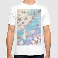Starry Eyed Mens Fitted Tee White SMALL