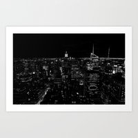 New York by Night Art Print