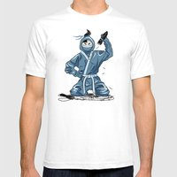Mr Ninja Mens Fitted Tee White SMALL