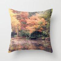 Autumn in Melbourne Throw Pillow